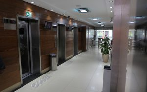 Hall dos andares das salas de aula